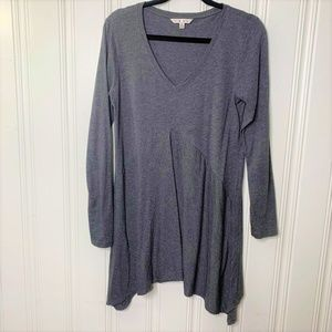 Cabi Gray Long Sleeve Tunic Top Size Medium